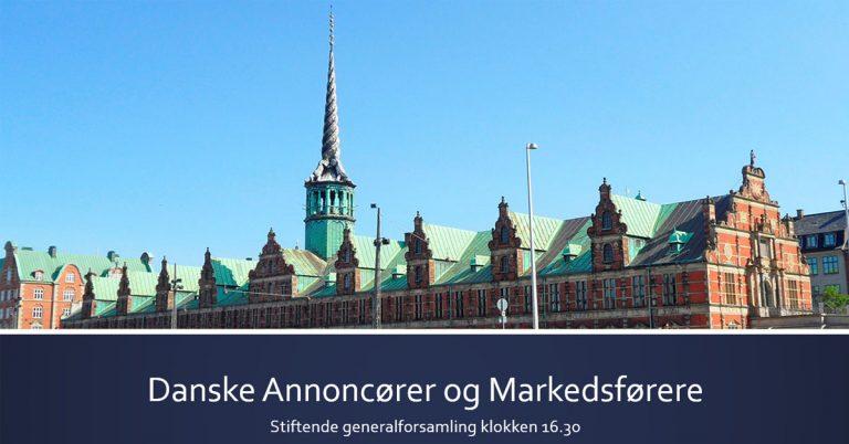 Danske Annoncører og Markedsførere er stiftet